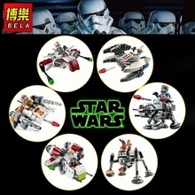 6 SETS/LOT STAR WARS SUPER PACK SERIES 2 MICROFIGHTERS Republic Gunship & ARC-170 Starfighter Building block toys for Christmas