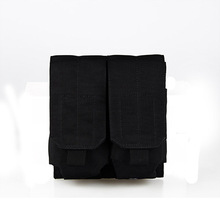 Free Shipping Military Cordura Molle Double Pouch Pistol Mag Magazine Pouch Close Holster Travel Small Waist Packs PP6-0064