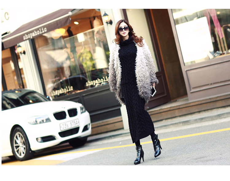 OHCLOTHING 19 European winter wool knitting female thickening noble temperament self-cultivation long bottom Sweaters 16