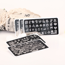 NEW Konad Stamping 1PC 12.5*6.5cm Nail Stamping Plates Flowers Image  Plate DIY Nail Stamping Template ZJOY11-20 konad печатная форма диск image plate m41