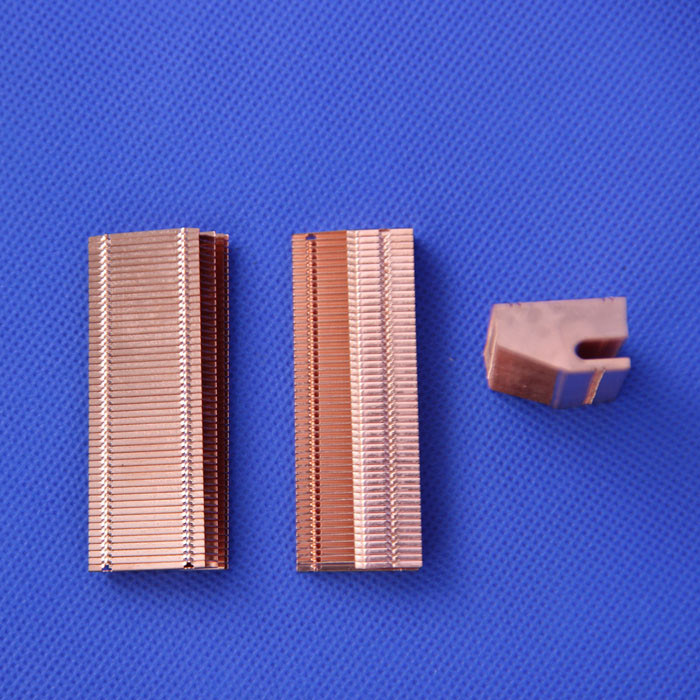 53*22*12mm DIY Laptops Radiator cooling copper fins  Heat pipe heat sinks fin grid radiator radiator fins overclocking 3 northbridge cooler pure copper bga chip heatsink mainboard cooling fans all copper cooling fin