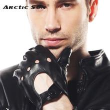 2014 breathable men leather driving gloves fashion wrist Genuine winter sheepskin