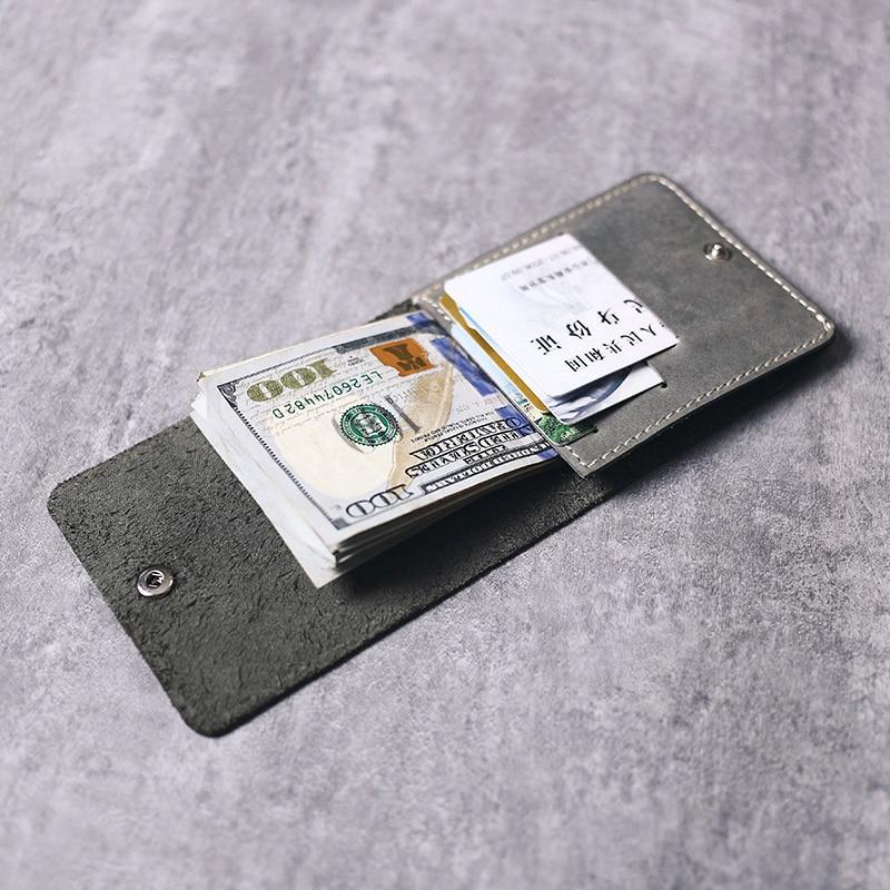 Gathersun Brand New Style Fold Purse Thin Handmade Italian Cow Leather Minimalistic Wallet Slim