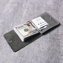 Gathersun Brand New Style Fold Purse Thin Handmade Italian Cow Leather Minimalistic Wallet Slim