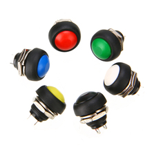 6Pcs Waterproof Mini Round Switch Momentary ON/OFF Push Button Toggle Reset 12mm 1A 250V