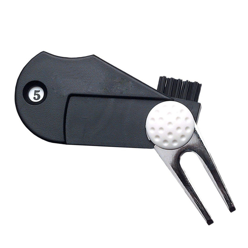 Golf Divot Repair Tool 5 In 1 Outdoor Pitch Groove Clean Versatile Multi Fork Putting Green Golf Accessories Training Aid