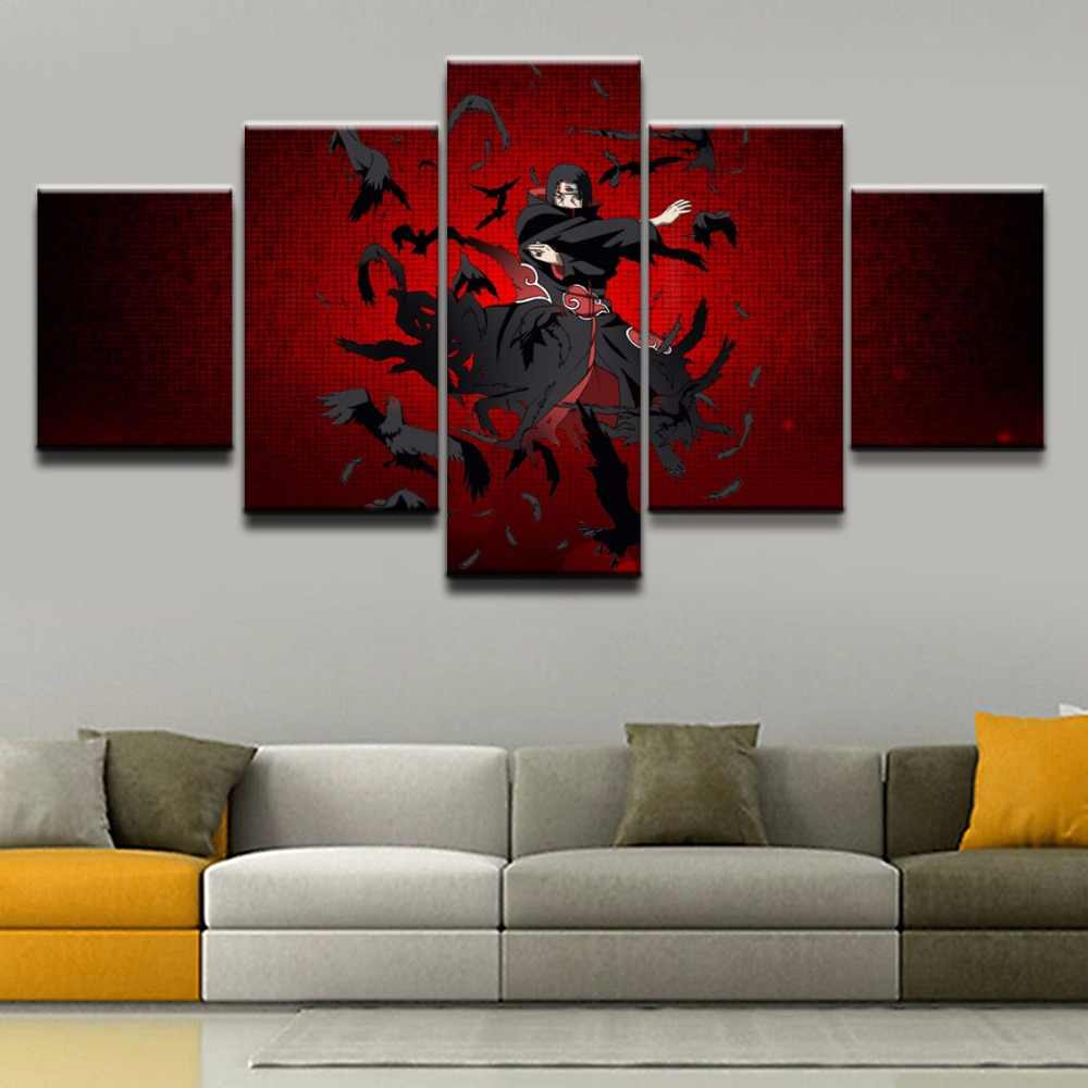 5 Panel Itachi Uchiha Naruto Framework Canvas Painting Wall Art Abstract  Decor Modular Pictures For Living Room Bedroom Prints