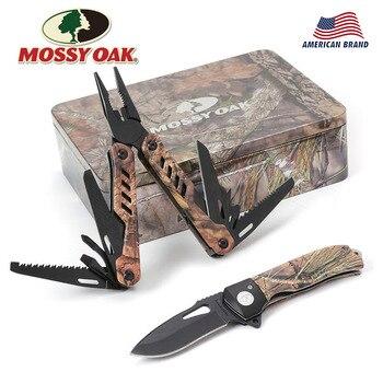 이끼 오크 2 pc 멀티 도구 접는 나이프 플라이어 포켓 도구 키트 야외 캠핑 기어