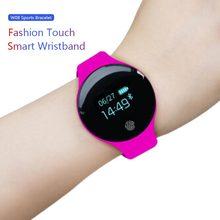 Купить с кэшбэком HATOSTEPED Smart Watch Sports Recorder Bluetooth Pedometer Bracelet Female Alarm Clock for IOS Android Pink Blue Black