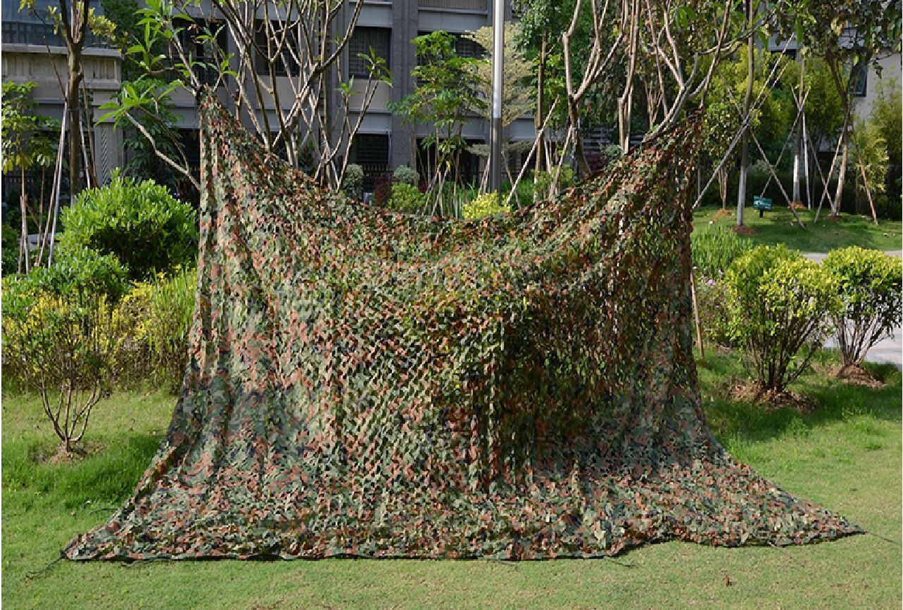 6.5x9.8ft Camo Hunting Military Camouflage Net Jungle Camouflage 2x3m Woodlands Leavesh