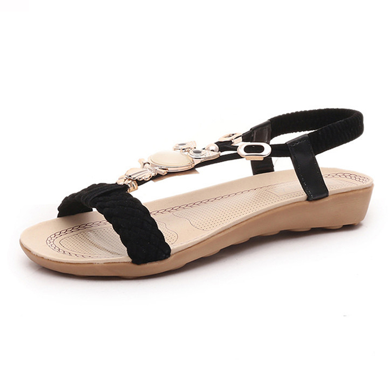 KUIDFAR 2018 Comfort Beach Shoes Flat Sandals Fashion Women Sandals Summer Gladiator Shoes Ladies Bohemia Shoes kuidfar wedges sandals gladiator sandals fashion women summer shoes low heels women casual sandals ladies shoes women