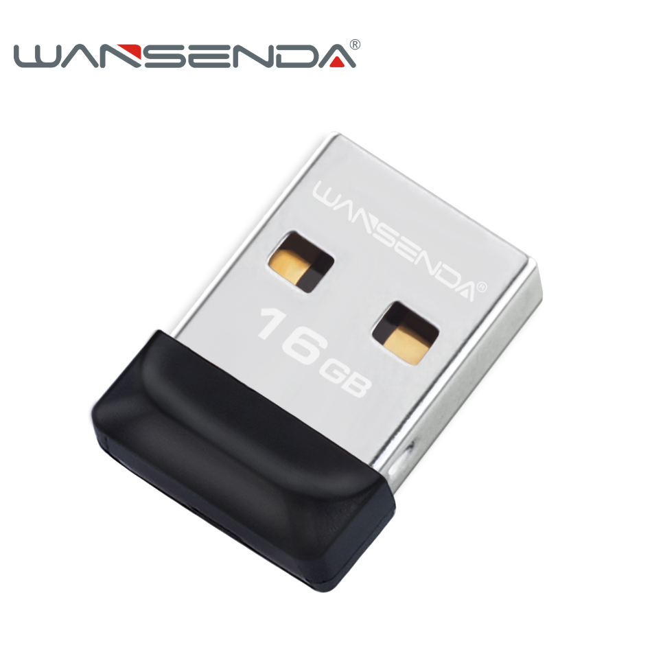 100% full capacity Wansenda USB Flash Drive Super tiny Pen drive 64GB 32GB 16GB 8GB 4GB Pendrive Waterproof USB Memory Stick(China)