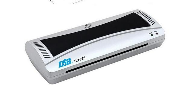 DSB Hot and Cold Laminator, HQ-235, A4, 3-5 Minutes Warm-up, 80mic -125mic, 2 Rollers System