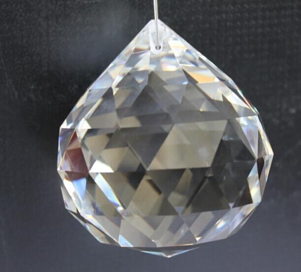 1 шт. Ясно 80 мм Кристалл Стекло призмы блестящие фэншуй мяч кулон люстра лампа X'mas Свадебная часть Защита от солнца Catcher