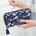 Women Flowers Wallet Sweet Fresh 4 Color Purse Women's Tassels Zipper Money Bag Lady Clutch Cion Pocket Card Holder