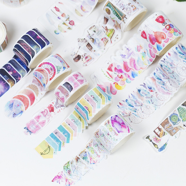 Original Watercolor Theme Beautiful Life Paper Sticker DIY Washi