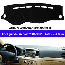 Taijs Auto Dashboard Cover Voor Hyundai Accent 2006 2007 2008 2009 2000 2011 Dash Mat Dashboard Pad Tapijt Dashmat anti Uv