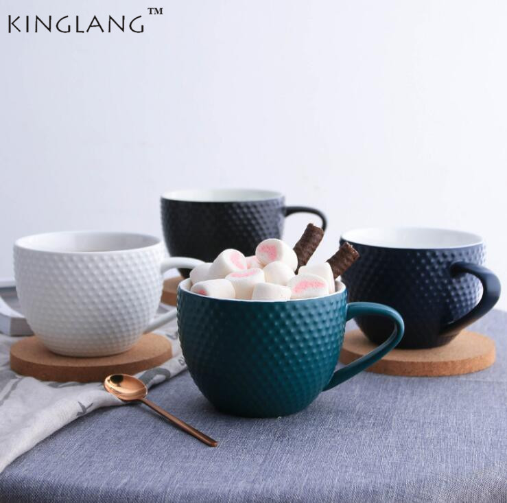 KINGLANG The Nordic Style Creative Ceramic Mugs Coffee Mug With Breakfast Cup With  Lid Drinkware KINGLANG The Nordic Style Creative Ceramic Mugs Coffee Mug With Breakfast Cup With  Lid Drinkware