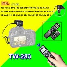 Pixel TW283 TW-283 N3 Minuterie Télécommande Sans Fil Pour Canon 7D 5D Mark ii 1D 6D 7D2 5D3 50D 40D 30D 10D Obturateur de Caméra libération