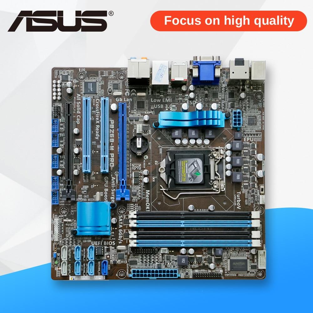 Asus P8Z68-M PRO Desktop Motherboard Z68 Socket LGA 1155 i3 i5 i7 DDR3 32G SATA3 USB3.0 uATX original used desktop motherboard for asus p7h55 m pro support socket lga1156 4 ddr3 support 16g 6 sata3 uatx