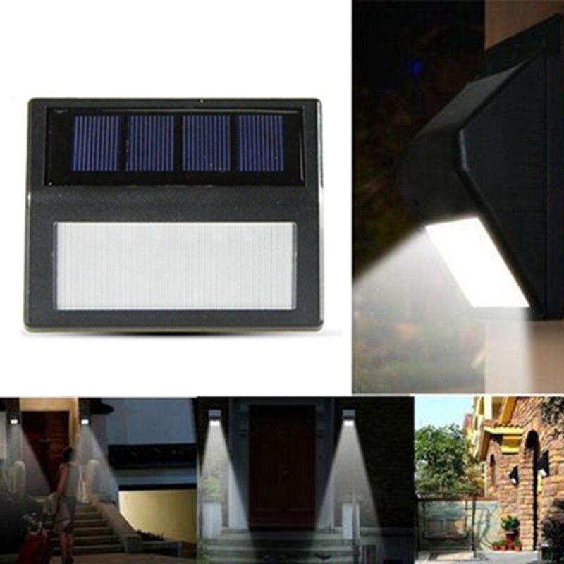 6/10/32 светодиодный солнечный свет датчик движения настенный светильник наружный водонепроницаемый садовый светильник лестница коридор ава...