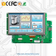 UART TFT display 7 inch with controller board and software, work with any microcontroller 7 cop display board human machine interaction tbd 7stn cop display board