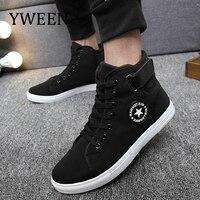 YWEEN/Мужская Вулканизированная обувь, мужские демисезонные модные кроссовки на шнуровке, однотонные мужские туфли
