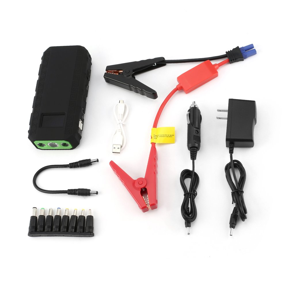 300A LCD Display 12V 4 USB Portable Mini Car Emergency Jump Starter Booster Battery Charger Power Bank For Emergency