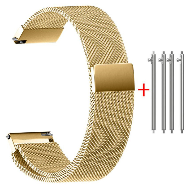 22/20/18/16/14MM Men Gold Clock Bracelet Milanese Magnetic Loop Stainless Steel Watch Strap Band Bracelet De Montre