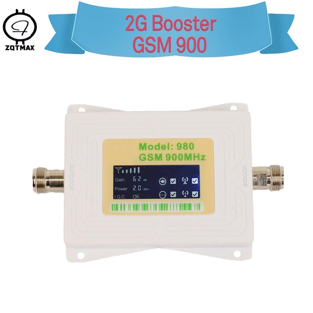 Amplificateur de signal ZQTMAX gsm amplificateur de signal de téléphone portable 2g amplificateur de signal gsm 900 MHz amplificateur de signal cellulaire Mini répéteur 2g lec