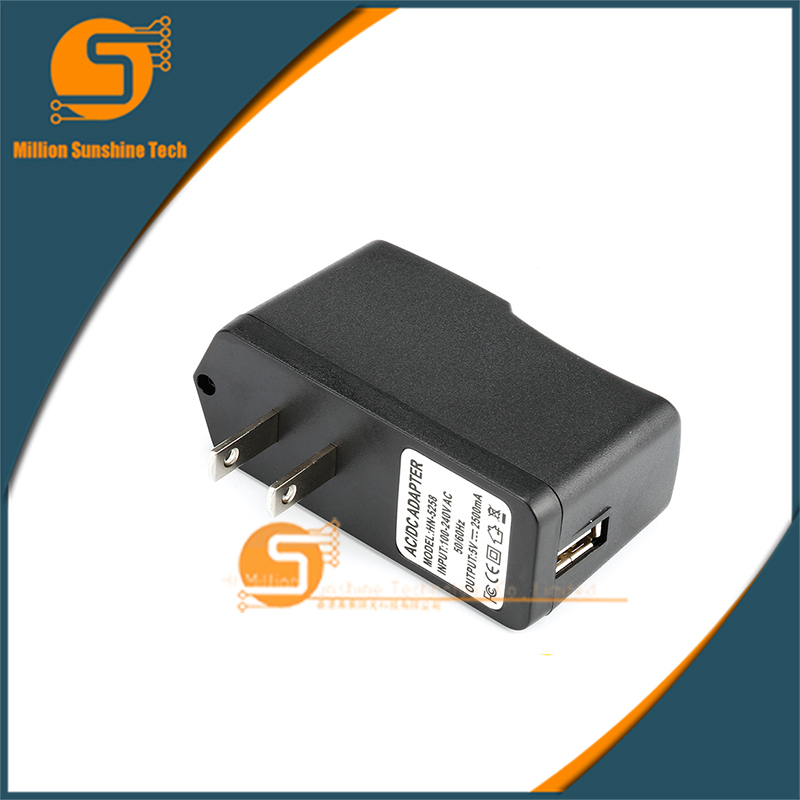 5V2.5A USB Charger AC Power Supply Adapter Raspberry pi 2 Power Adapter US/EU for Orange Pi Pc Plus free shipping