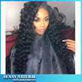 FreeShipping Heat Resistant loose Kinky curly Synthetic Lace Front Wigs Cheap Long Black Synthetic Lace Front Wig With Baby Hair