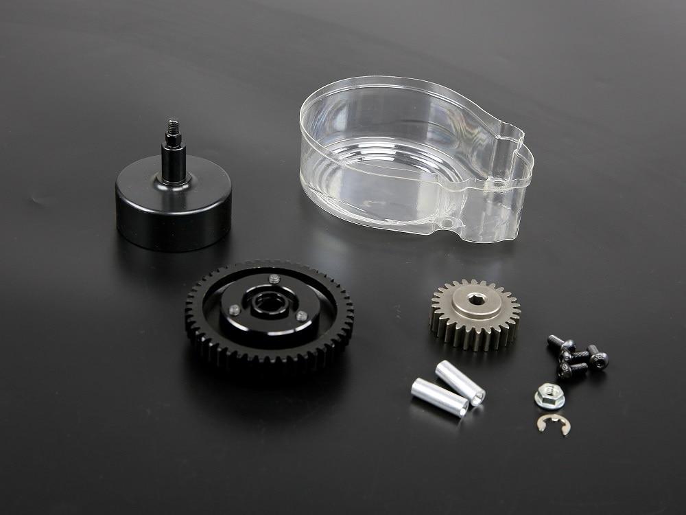 클러치 벨 및 금속 48 t & 26 t 슈퍼 고속 기어 키트 및 플라스틱 커버 1/5 hpi rovan km baja 5b ss rc 자동차 가스 부품-에서부품 & 액세서리부터 완구 & 취미 의  그룹 1
