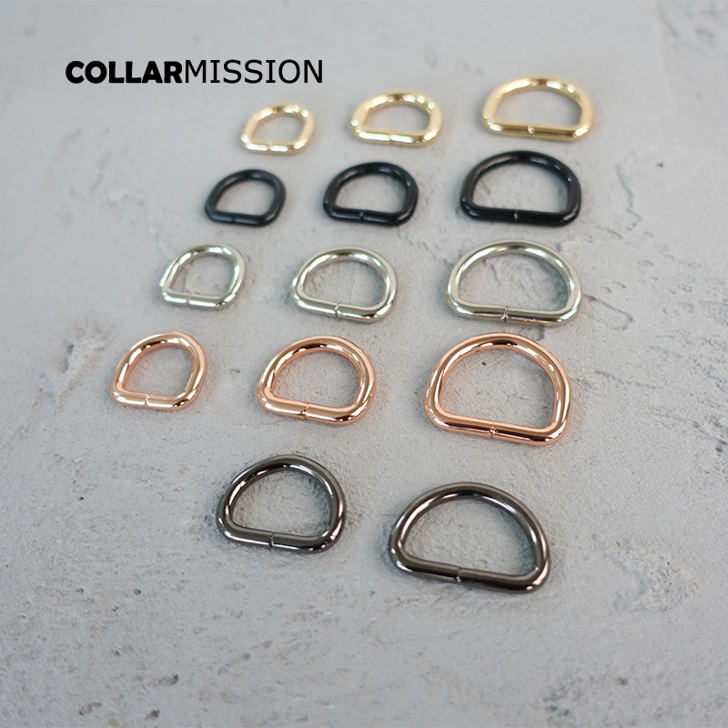 10pcs/lot Nickel Plated D-Rings 25mm Webbing Strapping Bags Garment Accessory Retailing 15mm Non Welded Metal Flat Dee Ring 20mm