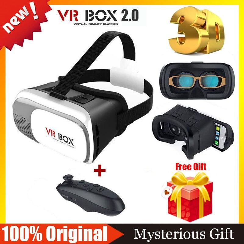 <font><b>VR</b></font> <font><b>BOX</b></font> <font><b>2.0</b></font> <font><b>Version</b></font> Google Cardboard <font><b>VR</b></font> <font><b>Virtual</b></font> <font><b>Reality</b></font> Goggles 3D Glasses <font><b>VR</b></font> Shinecon 3.0 BOBO Z4+Wireless Bluetooth Remote