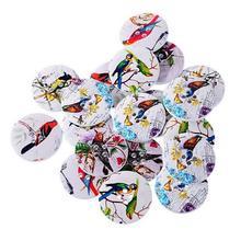 1 партия = 10 шт.) Набор для скрапбукинга аксессуар птицы Цветочные высокий каблук узор декоративные деревянные кнопки швейные поставки