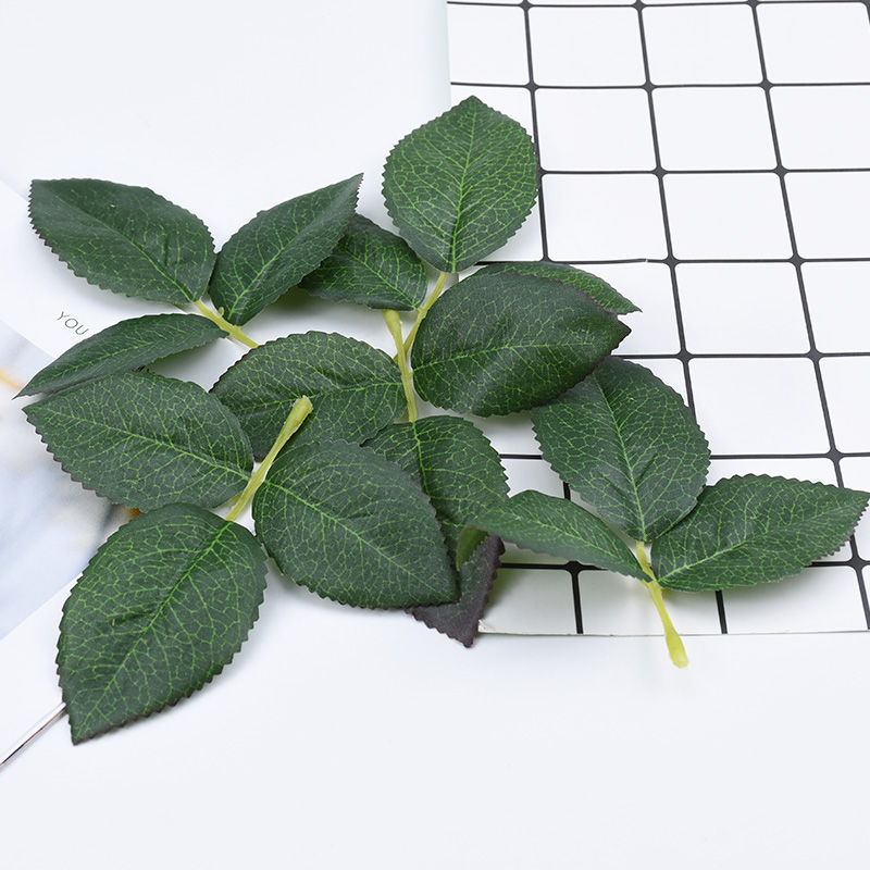 Cheap Artificial Plants Christmas Decorations For Home Wedding Diy Garland Brooch Gifts Box Silk Roses Leaf Fake Green Leaves
