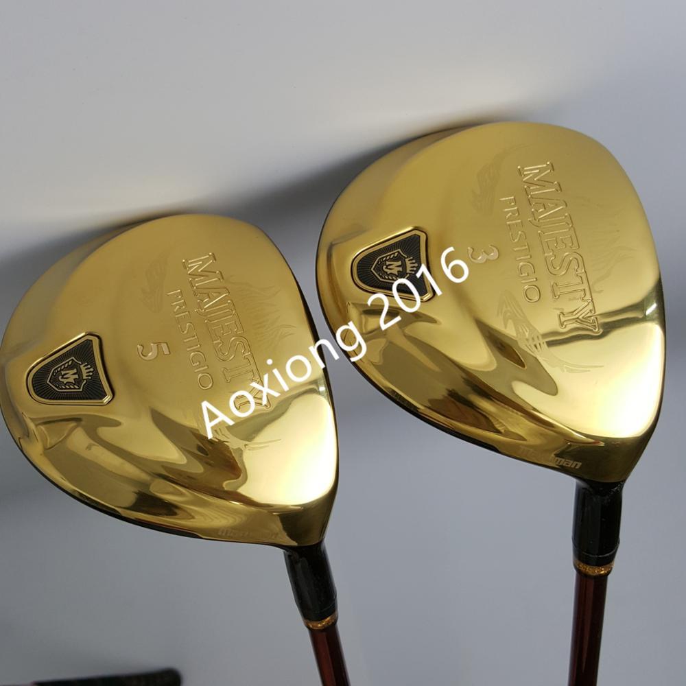 Clubs de Golf Maruman majesté Prestigio 9 Golf Fairway Woods set 3/5 Graphite De Golf arbre R ou S flex De Golf capuchon Livraison gratuite