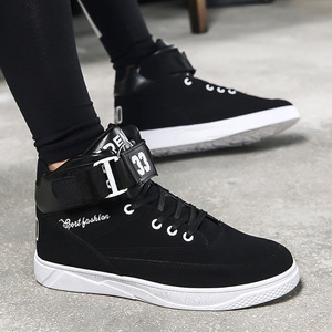 Image 4 - Mazefeng 2018 Spring Men Casual shoes Hard Wearing high top Shoes Men Sneaker Lace up Trend Men Flats Shoes Breathable Male Flat
