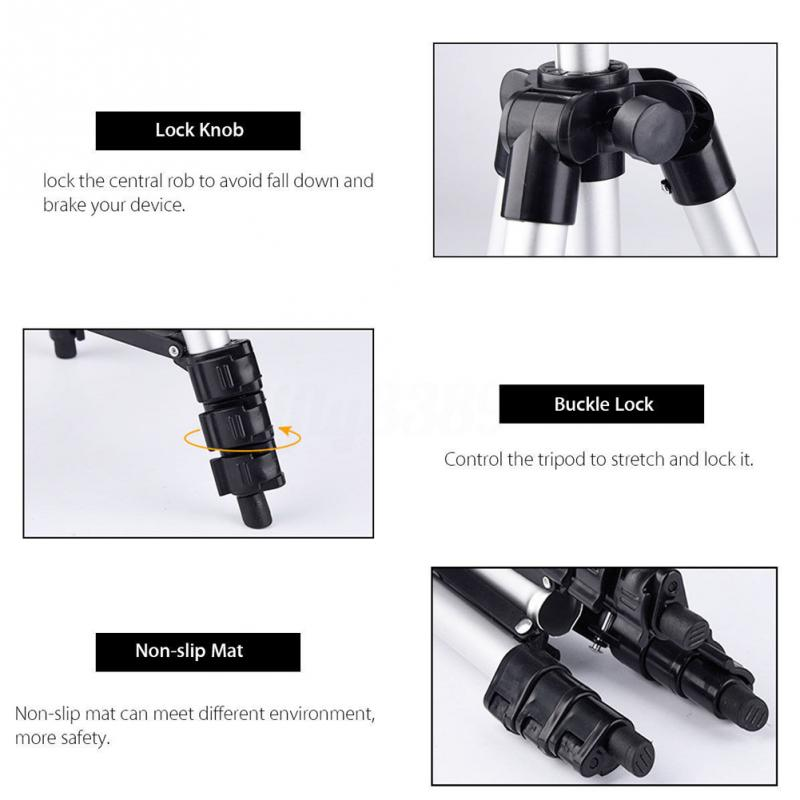Long tripod Bluetooth Remote Control Self-Timer Camera Shutter Clip Holder Tripod Sets Kit Gift For phone Stand holder           (9)