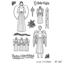 AZSG Holy Praying Angel Clear Stamps/Seal For DIY Scrapbooking/Card Making/Album Decorative Silicon Stamp Crafts