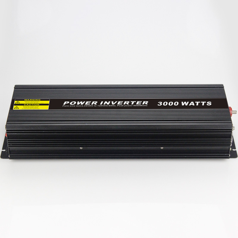 High efficiency 3000W Car Power Inverter Converter DC 12V to AC 110V or 220V Pure Sine Wave Peak 6000W Power Solar inverters 500w solar inverters 85 125v grid tie inverter to ac120v or 230v high efficiency for 72v battery adjustable power output