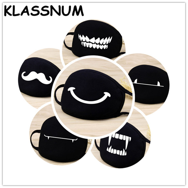 Cotton Mouth Face Mask Unisex Korean Style  BlackCarton Cycling Anti-Dust Cotton Mouth Mask Face Respirator