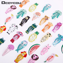 12PCS Fashion Girl Fruits Animals Hairpin Headwear Kids Barrettes Hair Clips Jewelry Snap Clips Children Hair Accessories 6pcs lot fashion girl animal hairpin headwear kid s barrettes hair clips jewelry snap clips children hair accessories