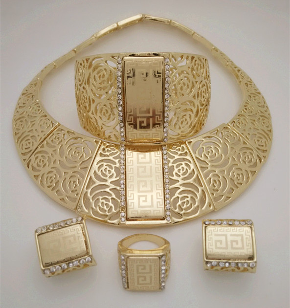 Kingdom-Ma-Gold-Color-Nigerian-Wedding-African-Beads-Jewelry-Set-Crystal-Saudi-Jewelry-Sets-Necklace-Bracelet-Earring-Ring-Sets