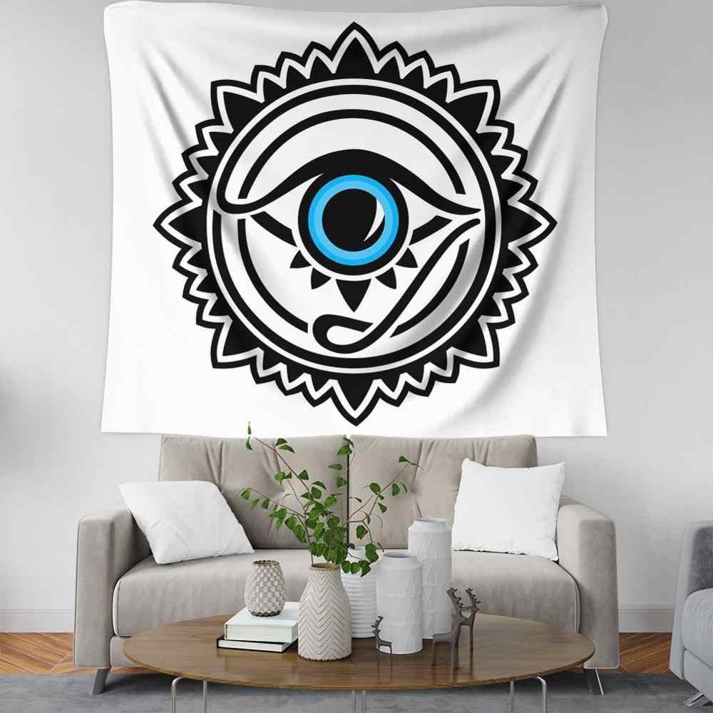 สามเหลี่ยม evil eye wall อินเดีย tapestry wall พรมกำมะหยี่ tapiz pared yoga เสื่อผนัง mandala boho ตกแต่งตกแต่งบ้าน