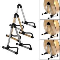 3 Colors Alloy Guitar Stand Universal Folding A Frame Acoustic Electric Guitar Floor Stand Holder Parts