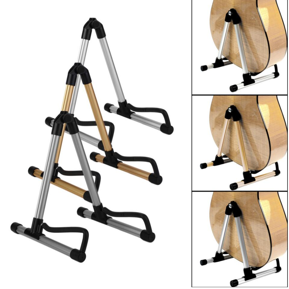 3 Colors Alloy Guitar Stand Universal Folding A-Frame Acoustic Electric Guitar Floor Stand Holder Parts Accessories High Quality tsai folding a frame guitar stand frame floor rack holder for acoustic guitar electric guitar bass free shipping promotion