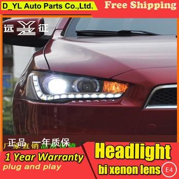 D-YL Car Styling for Lancer-ex Headlights 2010-2014 Lancer-ex LED Headlight DRL Bi Xenon Lens High Low Beam Parking Fog Lamp