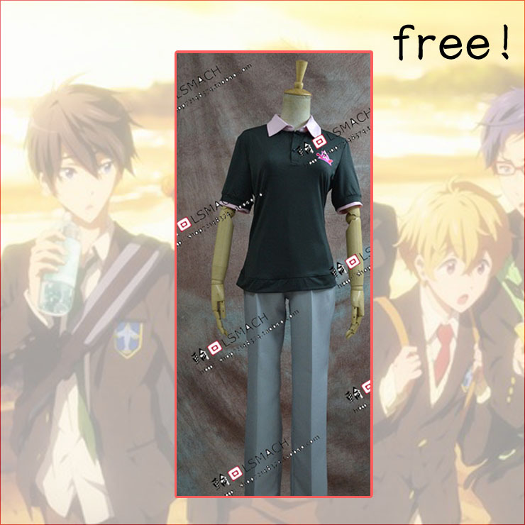 Free Shipping Iwatobi Swim Club Rin Matsuoka cosplay costume